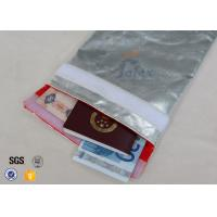 Wholesale Glass Fibre Fabric Fireproof Cash Pouch / Document Bags Large Size 28 X 38cm from china suppliers