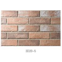 Quality 3D20-5 Ancient Thin Clay Brick For Outside Wall Installation Easily for sale