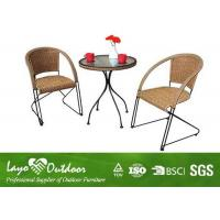 Wholesale Water Proof Patio Outdoor Furniture Set With 5 - 8 Mm Thickness Transparent Glass Table from china suppliers