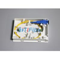 Quality FTTH 86 Type Optical Termination Box With  2 Port Inlet / Outlet for sale