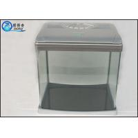 Wholesale Luxury Mini Glass Aquarium , Plastic Cover Colorful Betta FishTank from china suppliers