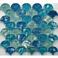 Wholesale Wall Tiles, Crystal Glass Mosaic, Comes in Blue Color, Sparkle with Pure Color Mixture from china suppliers