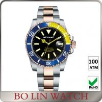 Quality Time Diaplay Awesome Stainless Steel Dive Watch With Alarm One Crown Design for sale