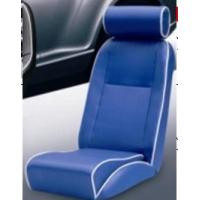 Wholesale Universal Blue PVC Sport Racing Seats With Deep Thing Bolsters / Bucket Car Seat from china suppliers