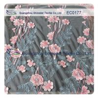 Wholesale High Fashion Floral Embroidered Polyester Lace Fabric For Hot Summer Clothing from china suppliers