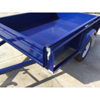 Quality 6x4 Tandem Box Trailer Single Axle Utility Trailer 750KG With Mudguards Checker Plate for sale