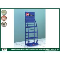 Wholesale Blue Logistic OEM Oil Display Rack Metal Display Racks WIth Single Sides from china suppliers