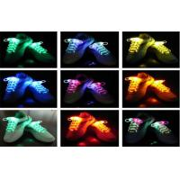 Wholesale Eco - friendly Nylon LED Light Shoelaces In Purple , Green / Light Up Shoe Strings from china suppliers