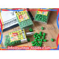Wholesale Kiwi Flavor Sugar Coated Candy , Green Colored Candy Multi Ingredients from china suppliers