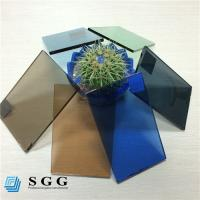 Wholesale Good price 4mm 5mm 5.5mm 6mm color dark blue green grey bronze tinted float glass factory from china suppliers