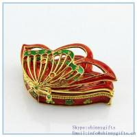 Wholesale Enamel butterfly jewelry box with butterfly shape for decoration SCJ746 from china suppliers