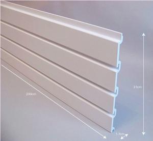 Wholesale White Plastic Slat Garage Wall Panels Storage with Slat Wall Hooks from china suppliers