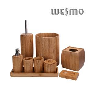 Latest bathroom bamboo accessory set buy bathroom bamboo for Bathroom accessories sets on sale