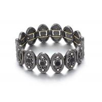 Wholesale Antique Gunmetal Oval Costume Jewelry Charm Bangle Bracelets Ladies Fashion Jewellery from china suppliers