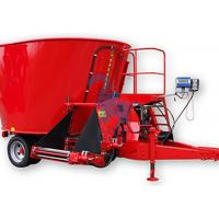 Wholesale Large Livestock Feed Mixers , Upright Feed Grinders And Mixers With Loading Shovel from china suppliers