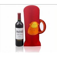 Wholesale high quality Felt wine tote bag wholesale, fancy design bag for wine from china suppliers