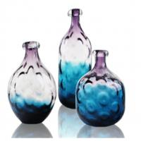 Wholesale Unique Design Colored Glass Vase / Bottles For Interior Decor / Violet / Blue from china suppliers