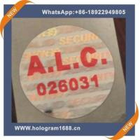 Wholesale Laser hologram waterproof  anti-fake label  sticker, custom tamper proof hologram stickers from china suppliers