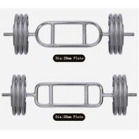 Quality chrome 28mm dia  handle barbell plate ,50mm dia olympic plate  with weightlifting bar for sale