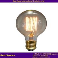 Quality Antique Vintage Edison bulb Carbon filament light bulb ST64, ST58, A60/A19, T45, G80, G95, G125, B53, C35, T30 for sale