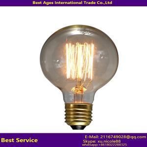 Buy cheap Antique Vintage Edison bulb Carbon filament light bulb ST64, ST58, A60/A19, T45, G80, G95, G125, B53, C35, T30 from wholesalers