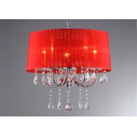 Wholesale Decorative Bedroom Luxury Crystal Chandelier Red Fabric Covering from china suppliers