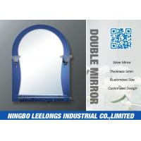 Wholesale Lighted Heated Bathroom Framed Mirror With Shelf , Double Lamps from china suppliers