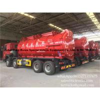 Wholesale 18000 litres howo 8x4 sludge suction truck  Euro 4   Cell: 0086 152 7135 7675 from china suppliers