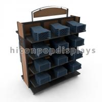 Wholesale Movable Retail Clothing Racks With Casters For Jeans And Shirts from china suppliers