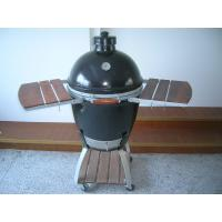 Wholesale Oval Ceramic Big Green Egg Oven / Smoker With Stainless Steel net , Adjustable Upper Cover from china suppliers