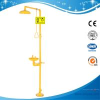 Wholesale SH712B-Galvanization Iron Safety shower & eyewash station,Carbon steel,yellow color from china suppliers
