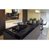 Wholesale Granite Countertops In Kitchen , Agatha Black Granite Countertop Polish Finished from china suppliers
