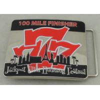 Wholesale Jackpot Ultra Running Festival Custom Made Belt Buckles 100 Miles Finisher With Soft Enamel from china suppliers