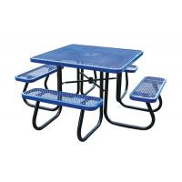 Wholesale Stainless Steel Picnic Table Metal Outdoor Furniture , Heavy Duty Garden Bench Table from china suppliers