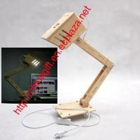 Quality Funny Assembly DIY Wood Table Desk Lamp Light for sale