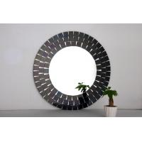 Quality Mosaic Decorative Mirror lily Mirrors Black Frame Mirror Wall Decor Sticker for sale