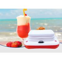 Quality Inflatable Beach PVC Floating Cooler Holder Outdoor Leisure Equipment White Red for sale