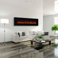 "Wholesale 95"" wall mounted fireplace WF-95  colorful flame back lights log or crystal stone Under TV living room from china suppliers"
