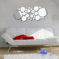 Wholesale Eco-friendly 40 * 60cm Removable CM-144 Bubble Shaped Wall Mirror Sticker from china suppliers