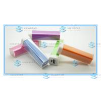 Wholesale 2600mAh Lipstick External Backup Battery Charger Portable Colorful For Mobile Phone from china suppliers