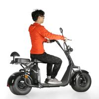 Wholesale EcoRider 60v 12ah lithium battery 1500w brushless motor Harly Citycoco Electric Scooter with Fat Tire, EEC certificate from china suppliers