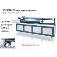 Quality Textile Industrial Digital Rotary Inkjet Engraver , Computer-to-screen Inkjet Screen Engraving Machine for sale