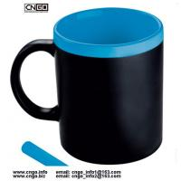 Buy cheap Certification SGS/CE Ceramic Chalk Mug with handle Leaving a message.by chalk cup china write news ceramic mug from wholesalers
