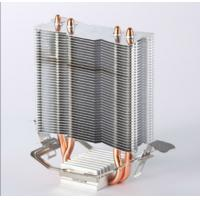 Wholesale Brass 2PCS Aluminum Heat Pipe Heat Sink with Antioxidant Treatment from china suppliers