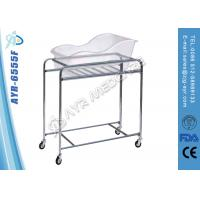 Wholesale Stainless Steel Pediatric Hospital Bed Baby Cot With Acrylic Bassin from china suppliers