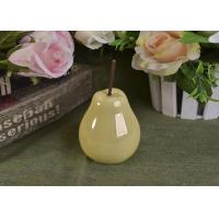 Wholesale Pearl Glazed Ceramic Pear Dining Kitchen Room Table Centerpiece Fruit Decoration from china suppliers
