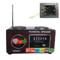 Wholesale Multi-Function Woodiness Speaker Plug-in Card FM Radio Player (UK-801A) from china suppliers