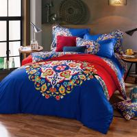 Wholesale Cotton Hotel Collection 6 Piece Bedding Comforter Sets Embroidered Flower Queen Size from china suppliers