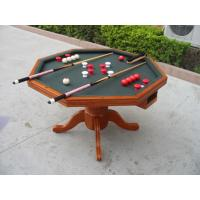 Wholesale 3 In 1 Poker Game Table Solid Wood Bumper Pool Poker Table For Tournament from china suppliers