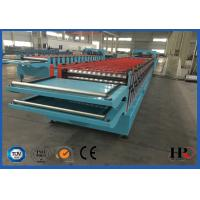 Wholesale Double Layer Colored Steel Roof Roll Forming Machine With Uncoiling SGS Approved from china suppliers